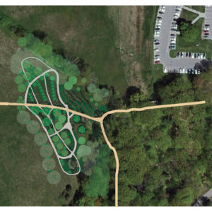 This Graphic Shows The Siting And Layout Of The Proposed Forest Garden.