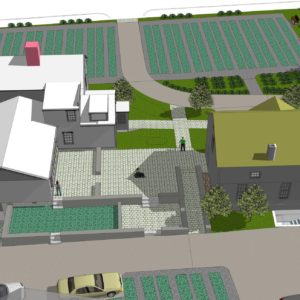 Courtyard From Back Fce Sketchup Lg