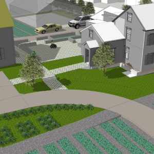 A 3D Rendering Of The Plan Showing The New Courtyard And Gardens.