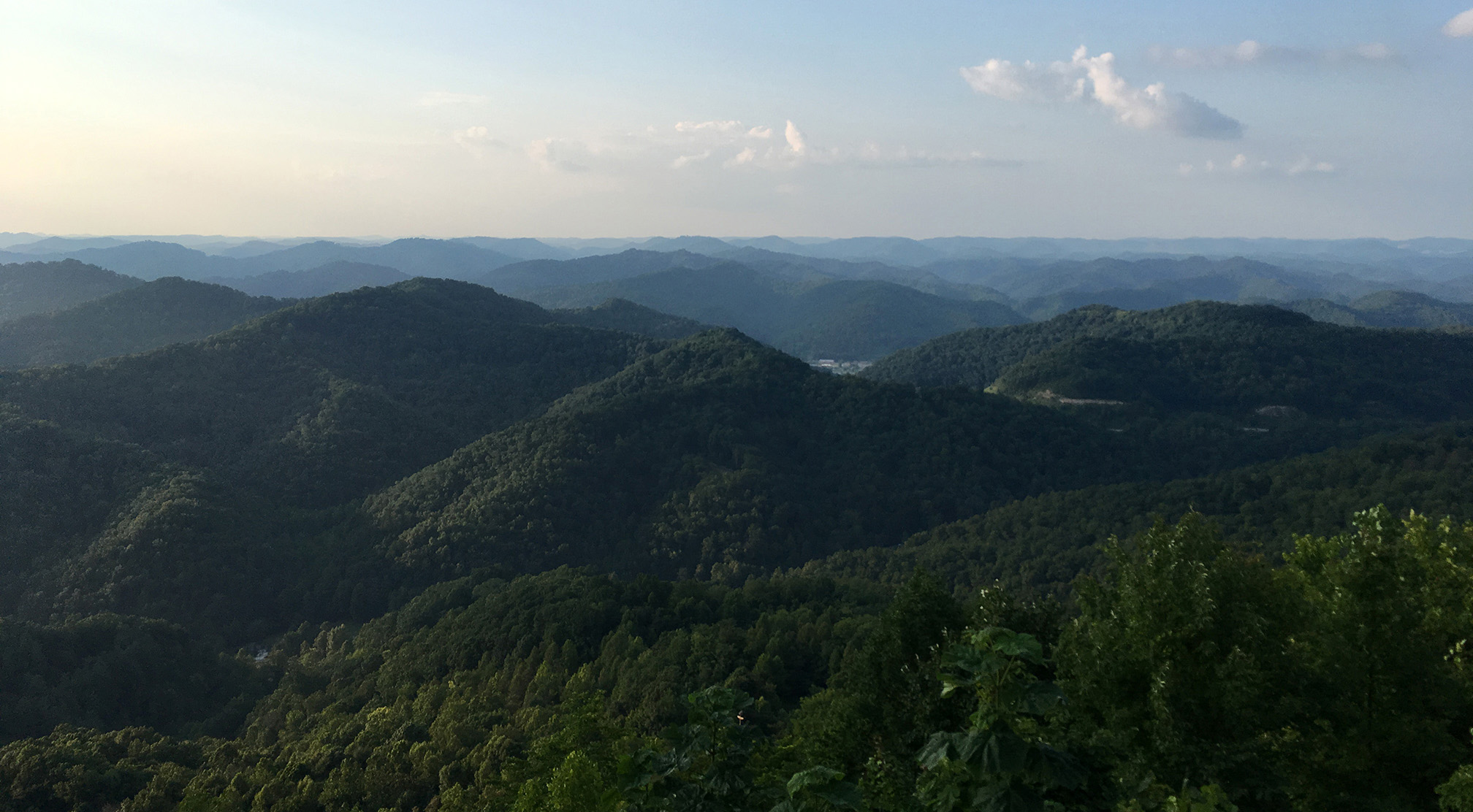 The Peaked And Rolling Hills Of Pine Mountain In KY